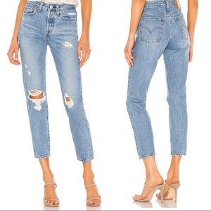 Levi's Wedgie Icon Fit Jeans Distressed Denim Size 25